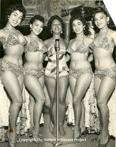 Mercedes Valdes (c) and the Cuban Dancing Dolls, 1955